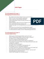 Vorstellungsgespräch Fragen Katalog