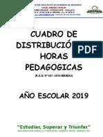 Cuadro de Distribución de Horas Pedagogicas Final