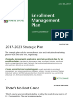enrollment mangament plan