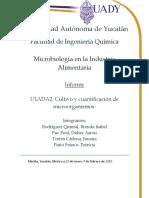Cultivo y cuantificación de microorganismos.