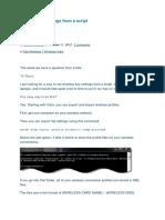 Set Wireless Settings From a Script