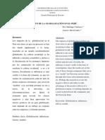 """""""Impacto de la Globalizacion en el Perú"""""""