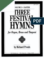 Three Festival Hymns Score & Parts - Arr. Proulx