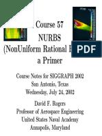 A Primer on Nurbs - David f. Rogers - Siggraph 2002