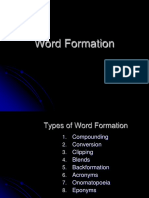[Morpho] Word Formation