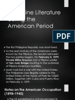 Philippine Literature During the American Period
