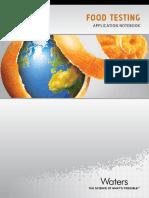 Determinación de acrilamida en dieferentes materiales