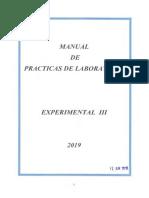 Manual de Practicas Laboratorio Experimental III 2019