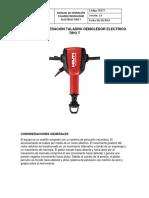 Manual de Operación Taladro Demoledor Electrico Tipo t actividad 2