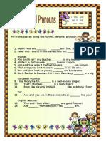 Personal Pronouns Subject
