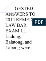Suggested Answers to 2014 Remedial Law Bar Exam i