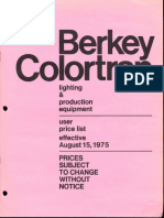 Berkey Colortran Lighting & Production Equipment Price List 8-1975