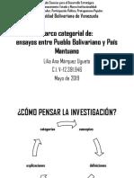 Marco Categorial de Pueblo Bolivariano y País Mantuano