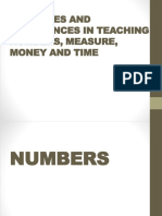 Activities and Experiences in Teaching Numbers, Measure