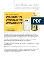 Difference Between Desiccant and Refrigerant Type Industrial Dehumidifier