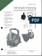 Colortran 2kW Studio Fresnel Spec Sheet 1994