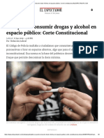 Sí Se Puede Consumir Dosis Mínima en Espacio Público_ Corte Constitucional ELESPECTADOR.com