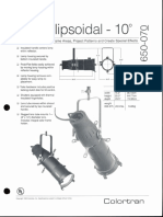 Colortran 5-50 Ellipsoidal 10 Deg. Spec Sheet 1995