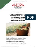 ARNOLD RIKLY Desintoxicarse_ Ley de Hering y Las CrisisCurativas _ Revista Ahora
