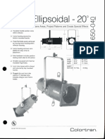 Colortran 5-50 Ellipsoidal 20 Deg. Spec Sheet 1995