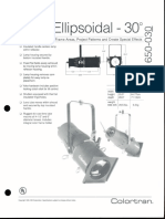 Colortran 5-50 Ellipsoidal 30 Deg. Spec Sheet 1995