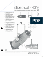 Colortran 5-50 Ellipsoidal 40 Deg. Spec Sheet 1995