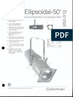Colortran 5-50 Ellipsoidal 50 Deg. Spec Sheet 1995