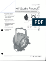 Colortran 5kW Studio Fresnel Spec Sheet 1994