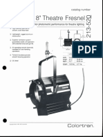 Colortran 8-Inch Theatre Fresnel Spec Sheet 1994