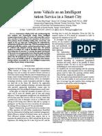 Autonomous vehicle as an intelligent transportation service in a smart city.pdf