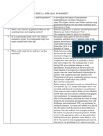 Critical Appraisal Worksheet - Dr. Theo