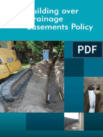 Building Over Drainage Easements Policy