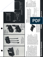 Colortran Distribution Equipment Plugging & Junction Boxes Spec Sheet 1995