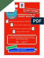 Script Writing Poster
