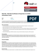 Red Hat Certificate of Expertise in Ansible Automation Exam