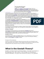 What is Gestalt Psychology