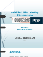 1st PTA Meeting