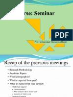 Seminar Handout 2- Writing Monograph