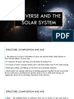 Universe and the Solar System