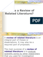 What is a Review of Related Literature
