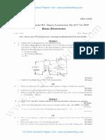 Basic Electronics Jan 2018 (2015 Scheme)