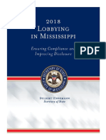 2018 Lobbying in Mississippi - Ensuring Compliance and Improving Disclosure
