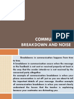 Vi. Communication Breakdown and Noise