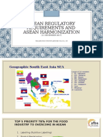 ASEAN REGULATORY REQUIREMENTS
