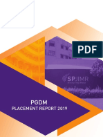 PGDM Placement Report-2019