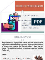 Solubility and Solubility Product Constan