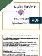 4 - second grade california social studies standards posters