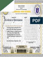 LAC Certificate