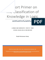 A Short Primer on the Classification of Knowledge in Logic