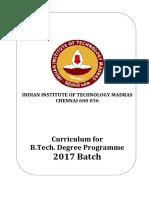 B.tech.Curriculum 2017